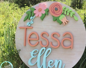 "20"" Diameter Floral Sign 