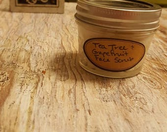 Lavender and Tea Tree Face Scrub