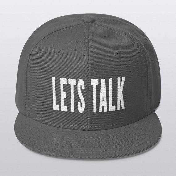 LETS TALK | Wool Blend Snapback Cap | 6 Colors