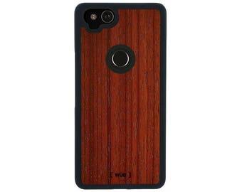 Phone Case for Google Pixel 2 - Real Wood (Padauk)