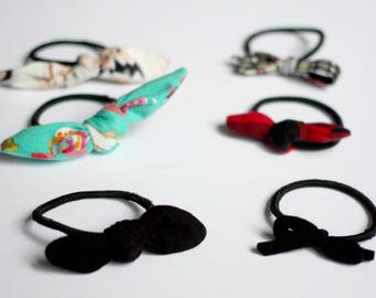 This hair tie - fabric loop - accessory for girl or woman - scraps of fabric hair - hair