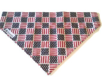 American Flag Dog Bandana, July 4th Dog Bandana, Military Dog Bandana, Memorial Day Bandana, Puppy Bandana, Dog Bandanna, Dog Hankerchief