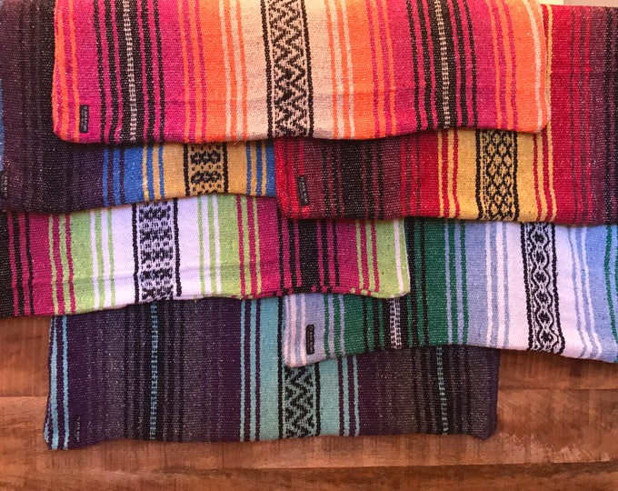 COVER ONLY: Authentic Mexican Blanket Dog Bed Cover