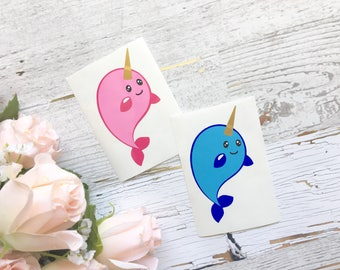 Narwhal Whale Decal Sticker
