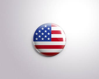 USA FLAG - pins / buttons / magnets - United States of America