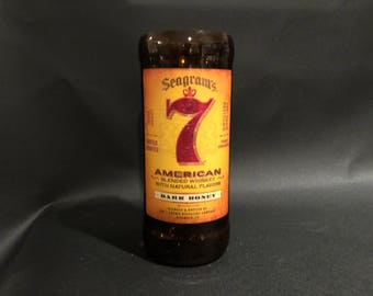 1 Liter vs  750ML Seagram's 7 Candle Dark Honey Bourbon Whiskey  Soy Candle. Made To Order !!!!!!!
