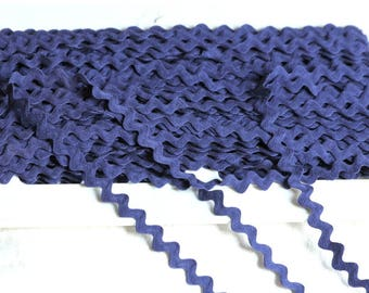 Ribbon or blue serpentine Navy 8 mm sold by the yard