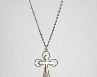 Vintage Sarah Coventry Goldtone Cross