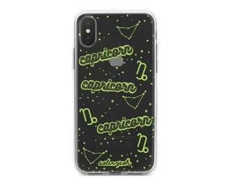 Transparent Capricorn iPhone Case 7 7 Plus 8 Plus X 10