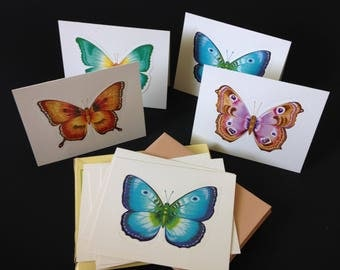 Set of 9 Blank Greeting Cards w/ 9 Envelopes - Butterfly Wings Fold Out Sculptural 3D Blank Cards Assortment Bundle