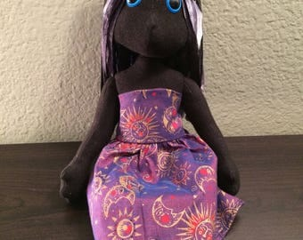 Jinx- Handmade Cloth Doll