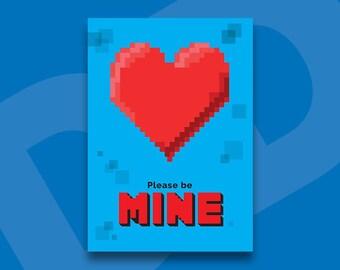 DDA5-16-06 - Minecraft Inspired Valentines A5 Card