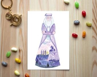 "Postcard ""Headmaster of Wizardry"""