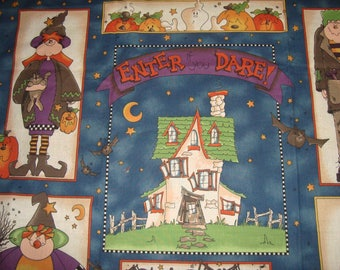 Halloween Wall Hanging Panel Quilt with Bats Autumn Fall Home Decor Cheater Panel Country Primitive
