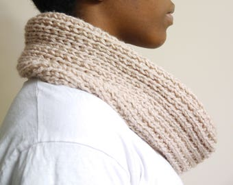 Infinity Scarf | Knitted Cowl | Hand knitted Scarf | The Faith infinity scarf | READY TO SHIP