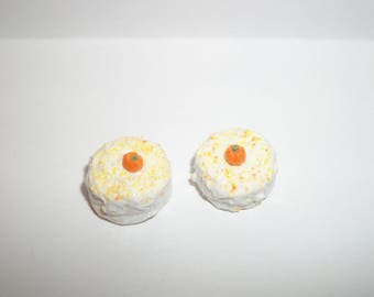 1:12 One Inch Scale Dollhouse Miniature Handcrafted Pumpkin Dessert Cake ~ Doll Food