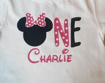 Minnie Mouse 1st or 2nd Birthday Shirt