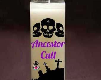 Ancestor candle, Eggun Candle, Prayer Candle, Meditation Candle, Blessed Candle, Dressed Candle, Fixed Candle, Attraction Candle