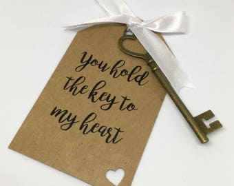 Key to My Heart Keepsake Tag
