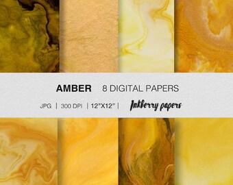 Golden amber- digital marble/ instant download/ background pattern/  digital paper/ craft paper/ digital paper pack/ digital download