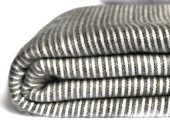 """SOFT & WARM striped alpaca llama wool blanket plaid  90""""x70"""" QUEEN"""