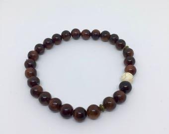 Beaded bracelet for men, gift for him, 6 mm bead
