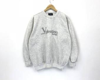 Vintage!!! Rare Rudolph Valentino spell out sweatshirt