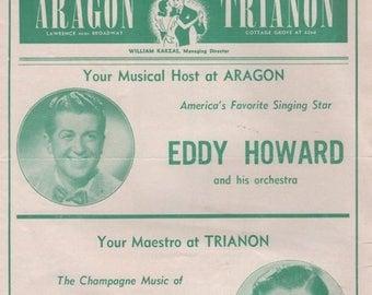 Summer Sale DANCE TOPICS 1950 Aragon -Eddy Howard & Trianon- Lawrence Welk Chicago, Illinois
