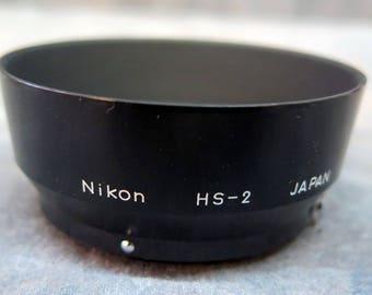 Genuine Nikon F HS-2 50/2 Snap on Lens Hood