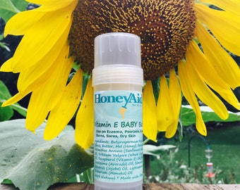 Baby Balm * Vitamin E Balm * All Natural * Made with Honey * Eczema Relief * Dry Skin Relief