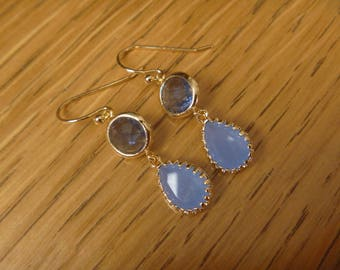 Golden Earrings: crystal blue