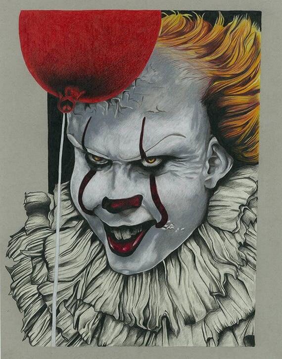 Pennywise bill skarsg rd dibujo imprimir for Pagliaccio da disegnare