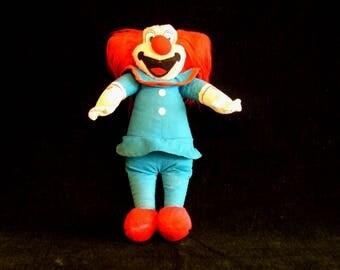 Vintage Bozo The Clown Plush Clown Doll ACE Novelty Company