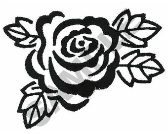 Rose Outline - Machine Embroidery Design