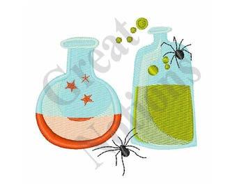 Magic Potions - Machine Embroidery Design