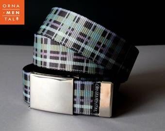 Military belt, Canvas belt, Adjustable belt, Military style belt, Military gifts,Checkered belt,Checked belt,Mens web belt, Custom made belt