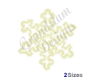 Cross Stitch Winter Snowflake - Machine Embroidery Design