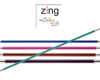 KnitPro Zing Double Pointed Knitting Needles DPNS 15cm (Packs of 5) 15cm All Sizes 2mm - 8mm