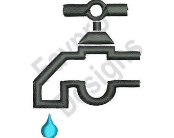 Water Faucet - Machine Embroidery Design