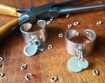 Ring, women ring, Adjustable ring, Silver 925 ring ring Medal, wide ring
