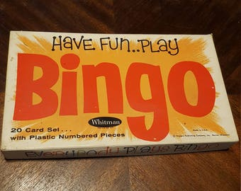 Vintage Bingo, 1960's Whitman Board Game