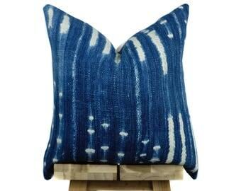 Vintage African  Indigo Pillow Cover, African Pillow, Indigo Pillow | Lola
