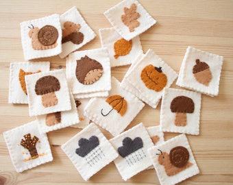 autumn in hand-sewn felt memory