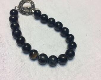 Genuine Blue tigers bead eye bracelet