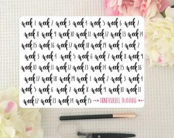 University Weeks Planner Icon Stickers