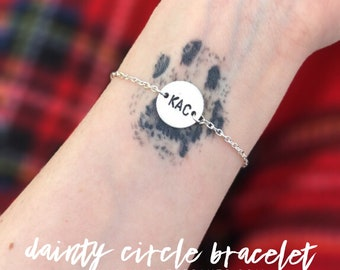 Dainty Circle Bracelet | Personalized | Hand Stamped Jewelry | Gifts For Her