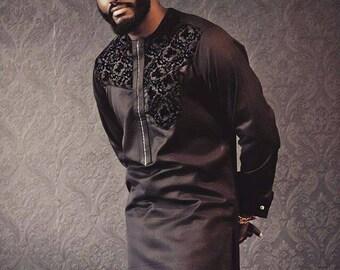 African men clothing, adshiki, dashiki shirt, African shirt, groom's suit, wedding suit, African men suit, prom
