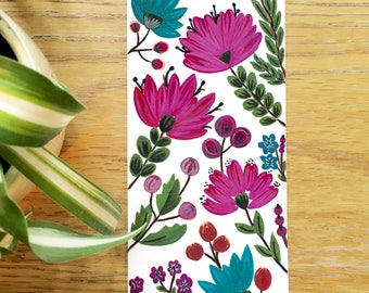 Floral hand painted bookmark 2