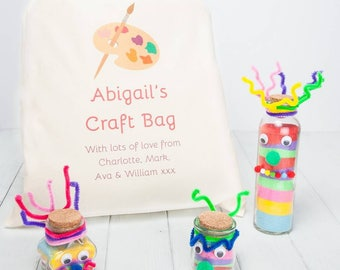 Sand Art Creatures Craft Kit With Personalised Gift Bag
