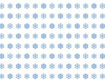 Snowflakes printable wrapping paper